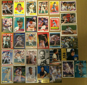 Wade Boggs LOT of 41 inserts parallel base cards NM+ HOF Boston Redsox 1986-1999