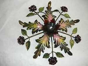 Plafoniere Con Rose : Plafoniera lampadario in ferro battuto con rose ebay