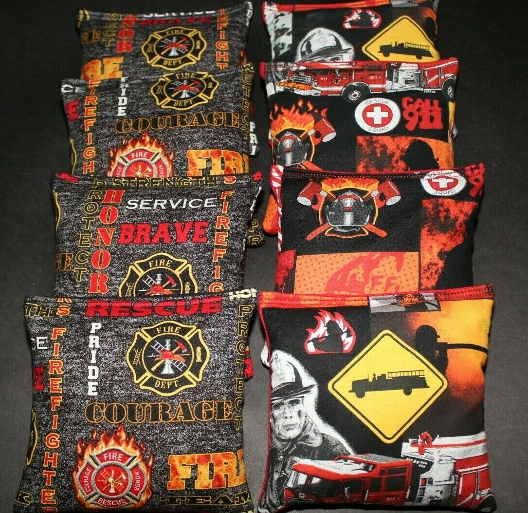 FIREFIGHTER RESCUE COURAGE BADGE 8 ACA Regulation Corn Hole Game  Bags  store online