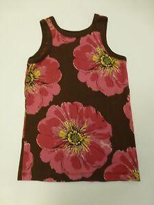 Gap-Shirt-Girls-Size-Medium-Brown-amp-Pink-Floral-Knit-Tank-Top-Great-Condition