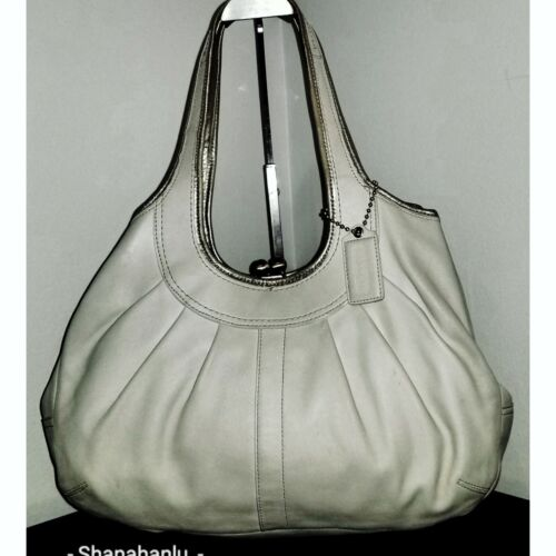 Coach Color Chalk Soft Leather Ergo Pleated Kiss L