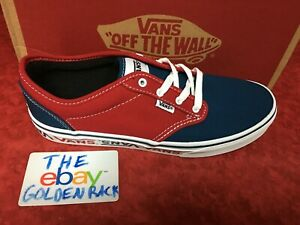 c5ad31dcba Details about Vans Men's Atwood Sidewall Logo Shoes - Sailor Blue / Red SZ  10-11 NIB