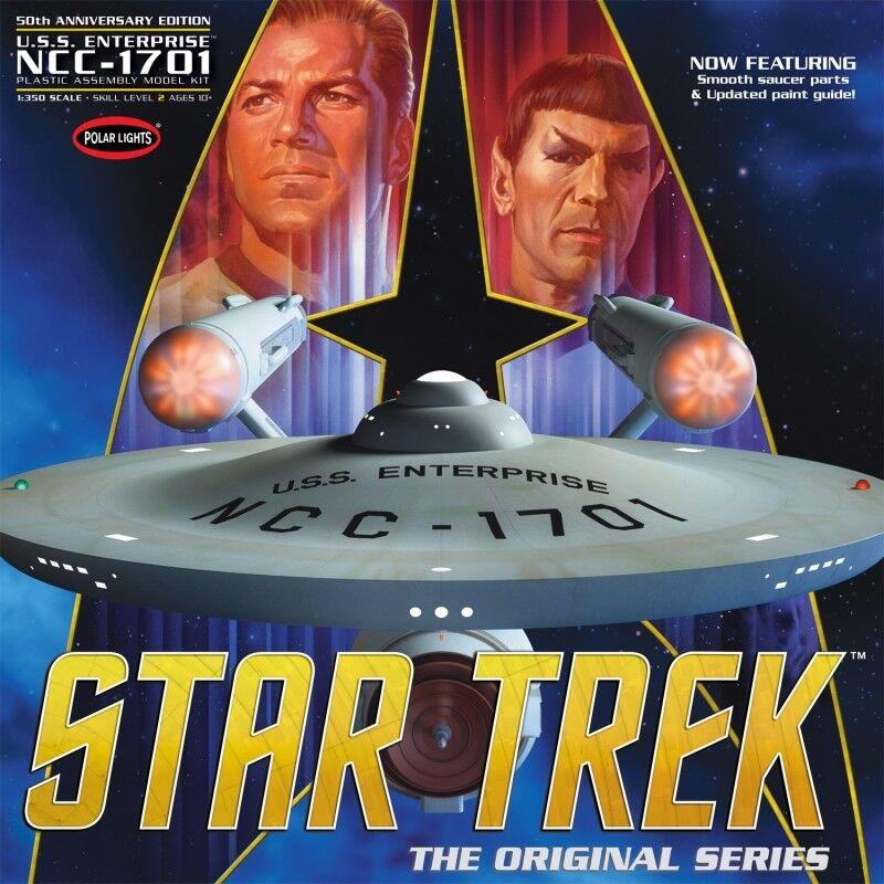 Star Trek TOS Enterprise 50th Anniversary Edition Large 1 350 Scale Polar Lights