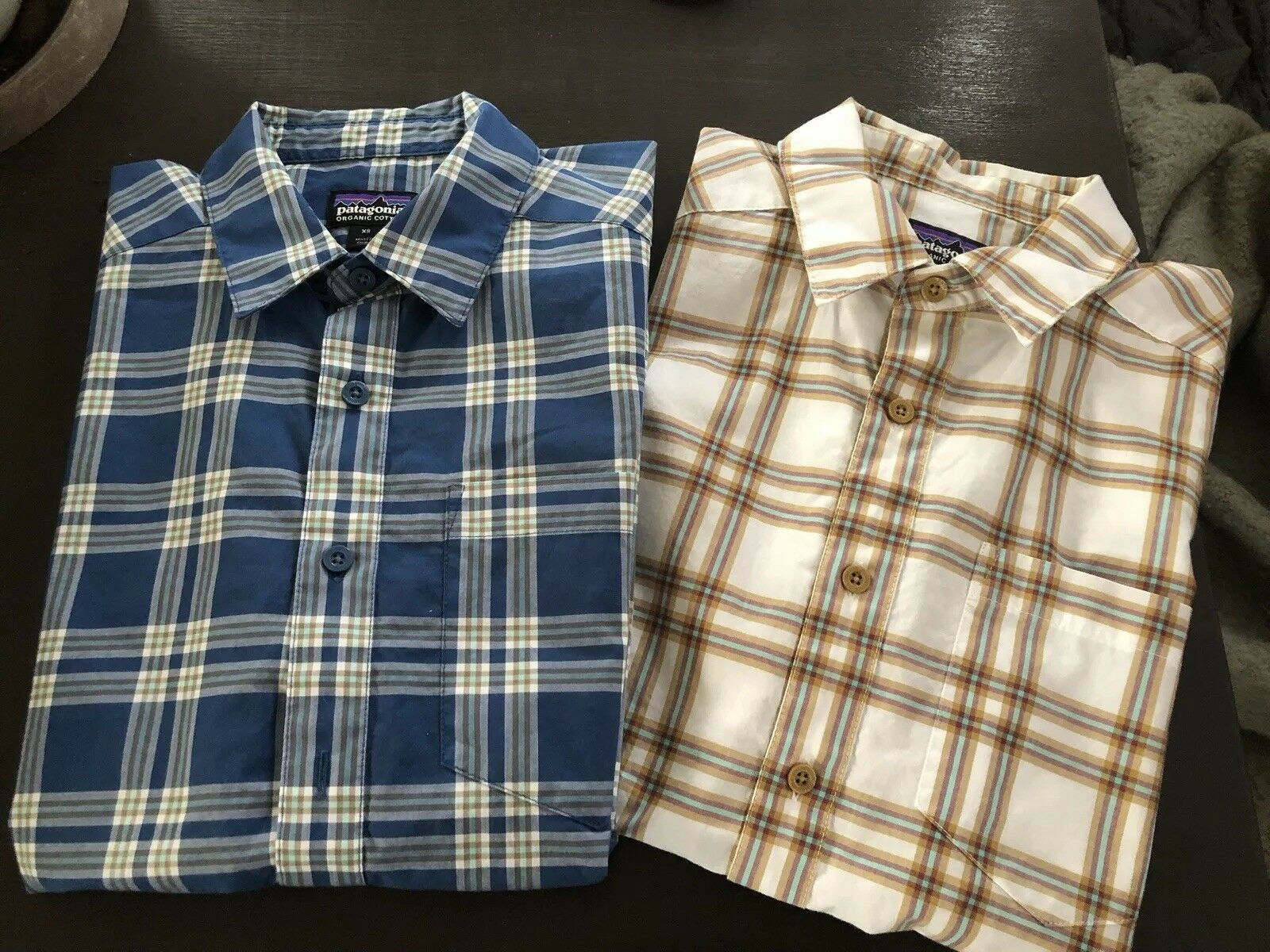Patagonia Men's Short Sleeve Plaid Button Up Dress Shirts In XS