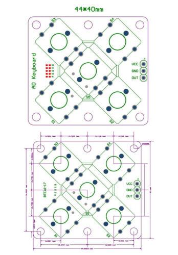 Colorful Round Cap Button Analog Button Module 5 Five Keys