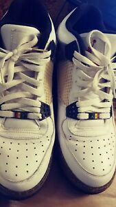 2481c7556258 Nike Air Jordan AJF 4 Size 12 M White and Gray Basketball Shoes ...