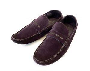 Men's Louis Vuitton Suede Leather Loafer Driver Shoes Purple Size 8,5