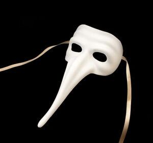 Maschera Di Venezia Bianco Per Vernice Zanni Autentica Carnevale Veneziano 931