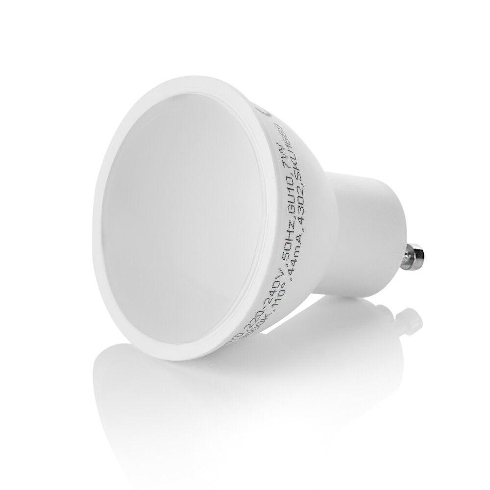 Gu10 Regulable 7w-500lumen-230v LED Foco Lámpara Warm-Kalt SMD LED - 110°