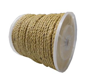 6mm dia x 220 metre coil Natural Sisal Rope boat marine fishing agriculture