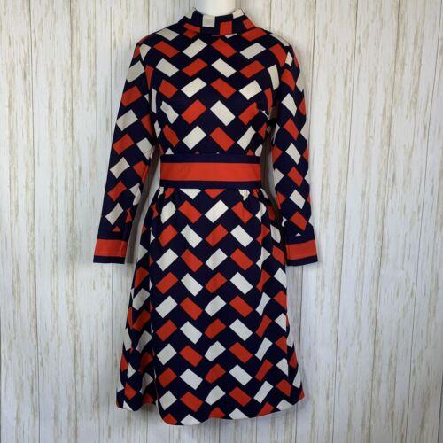 Vintage Bleecker Street Dress 1960s Mock Neck Long
