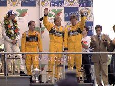 Derek Bell & Andy Wallace & Justin Bell McLaren Portrait Le Mans 1995 Photograph