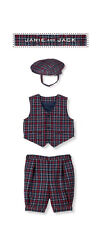 "Janie and Jack baby boy ""Tattersail Train"" Holiday 3 Piece Set NWT 0-3 months"