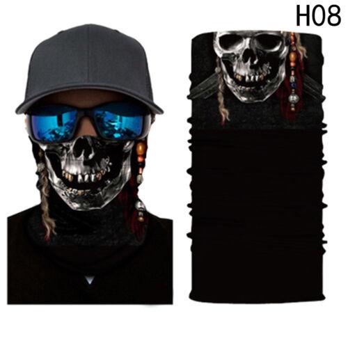 Cool 3D Print Clown Schädel Hals Tube Schal Motorrad Radfahren Gesichtsmaske Neu Helme & Protektoren