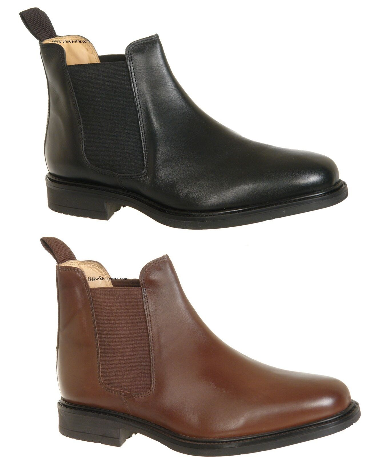 Roamers Pelle Fuller flessibile Gusset JIM Wide Fit Twin Gusset flessibile Chelsea Boot SCARPA 9024bc