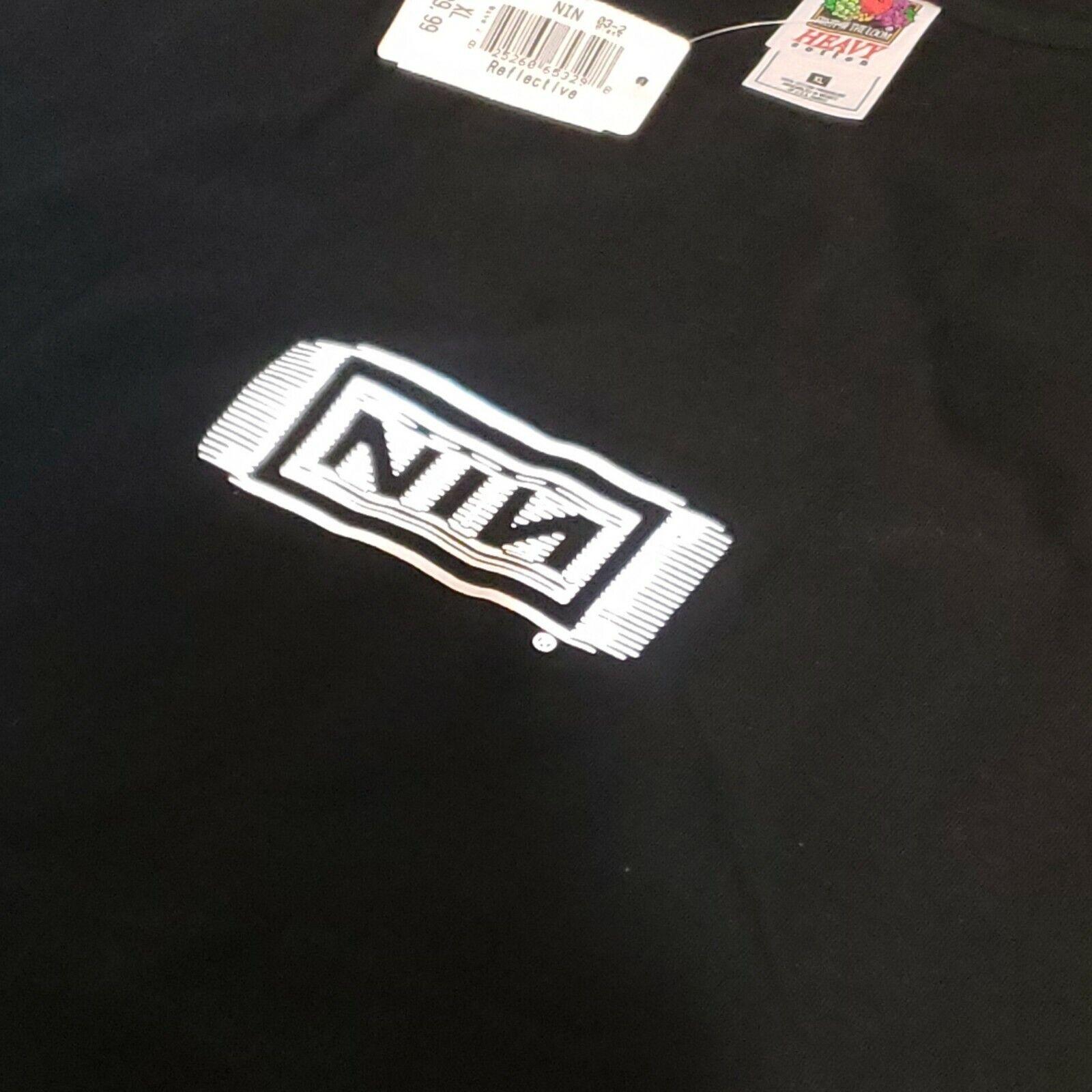 Vintage NIN Nine Inch Nail T Shirt XL Black Refle… - image 3