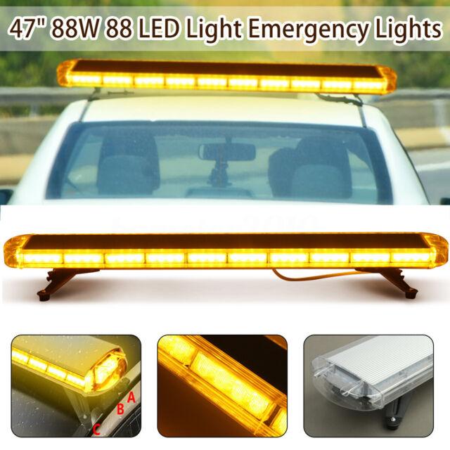 Led Strobe Lights For Trucks >> 47 88led Emergency Beacon Warn Tow Truck Response Strobe Light Bar Amber Yellow