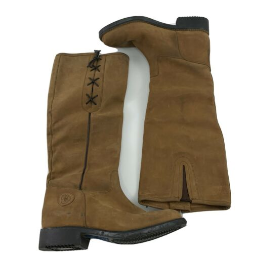 """Ariat Riding Equestrian Boots 17"""" Brown Leather Sz"""