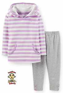 Carter-039-s-2-pc-Hooded-Jersey-Blouse-amp-Pant-Set-12-months-Authentic-and-Brand-New