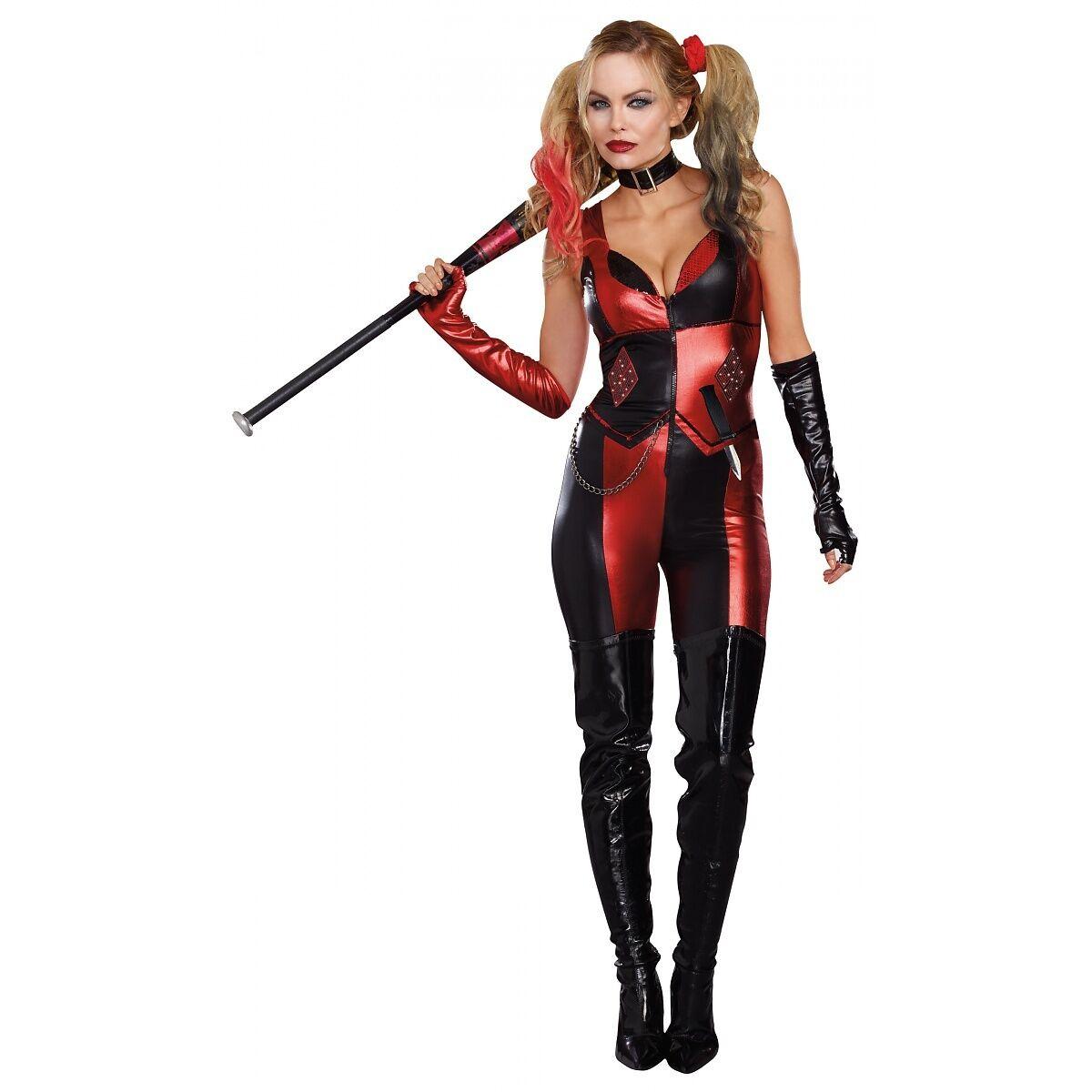 Harley Quinn Costume Adult Harlequin Halloween Fancy Dress