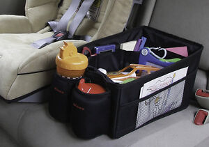 BABY-CHILDRENS-CAR-SEAT-STORAGE-TIDY-with-DRINKS-CUP-HOLDER-for-back-of-car
