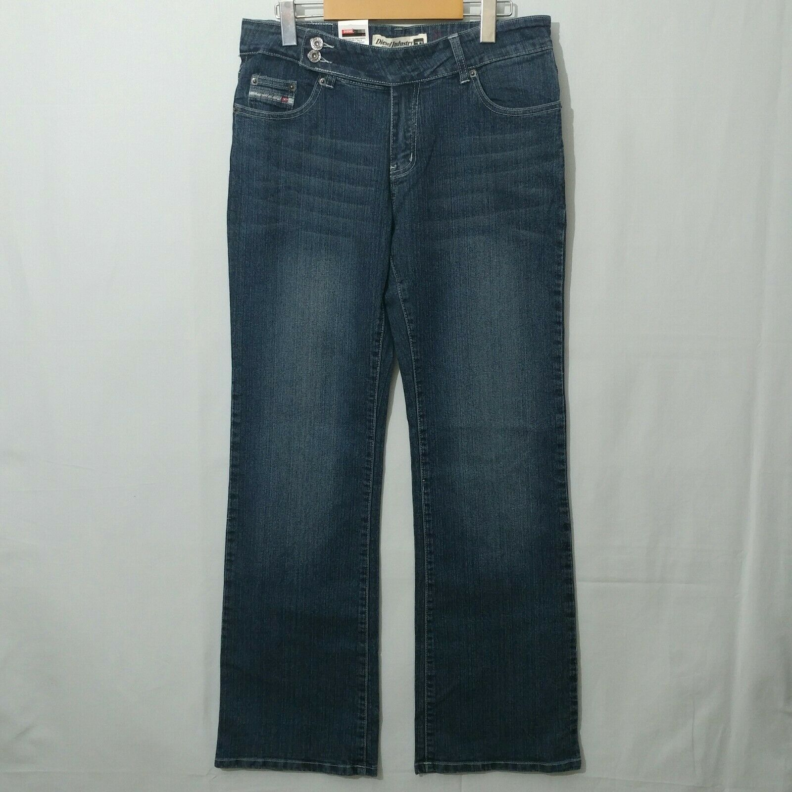 New DIESEL Mod Sparker Women's Jeans Distressed Bootcut Size 32 Mid-Rise BNWT