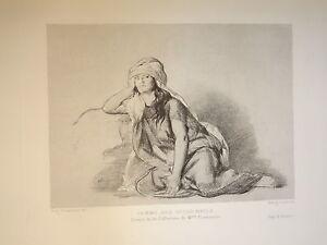 EUGENE-FROMENTIN-1820-1876-GRAVURE-ORIENTALISTE-FEMME-OULED-NAIL-ALGERIE-1880