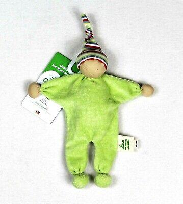 NEU ALANA dm WICHTEL ZWERG Puppe Püppchen Schmusetuch Kuscheltuch Schnuffeltuch