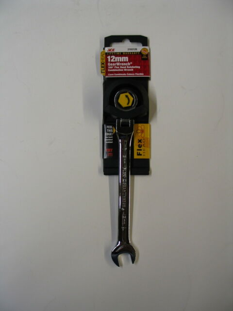 NEW ACE GearWrench Metric Ratcheting Flex Head Combination Wrench 12mm 2193126