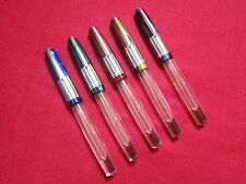 WALITY 71JT THICK CLEAR ACRYLIC DEMONSTRATOR EYEDROPPER FOUNTAIN PEN-5 PENS LOT