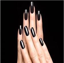 16pcs Smooth Nail Art Foil Decal Patch Wrap DIY MINX Decoration Beauty Black