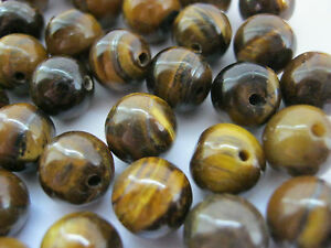 20-Tiger-039-s-Eye-Beads-8mm-Round-Natural-Gemstone-Beads-for-Jewellery-Making
