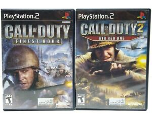 Call-of-Duty-2-Big-Red-One-amp-Finest-Hour-PlayStation-2-PS2-Lot-Complete