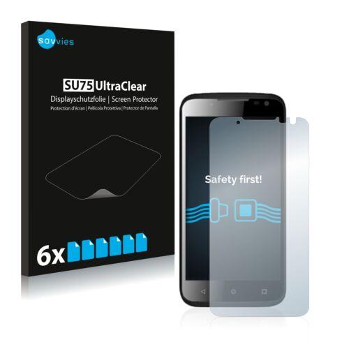 6x protector de pantalla para yezz andy 4.5el lámina protectora claro lámina protector de pantalla