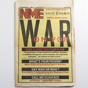 NME magazine 8 September 1984 Smiths David Bowie Marc Almond Pete Wylie