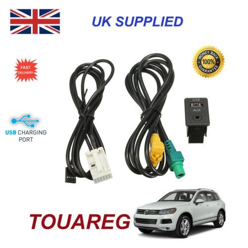 For VW Touareg USB Aux Switch socket CD510 310 300 RNS315 NAV 238 268MF Adapter