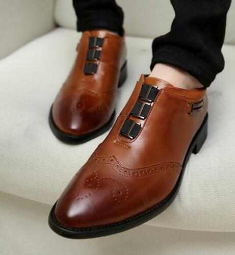 Hommes Chaussures De Sculpture De Bout D/'Aile formelle Robe Costume Chaussures Bout Pointu Casual Hot SZ