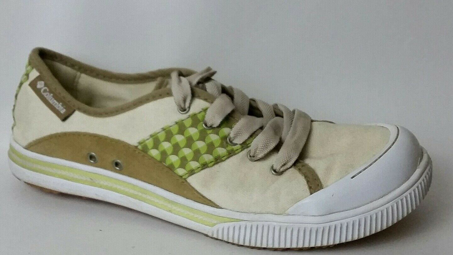 Columbia Joely Casual Sneaker 2383-120 Beige Green Brown Womens 7 M Leather shoes