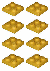 Brique lego manquant 3022 jaune x 8 plaque 2 x 2  </span>
