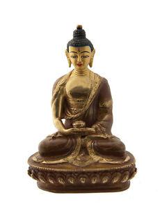 Soprammobile Tibetano Budda Amitabha Rame E Oro Nepal Budda AFR9-4896