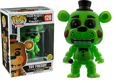 NEW Five Nights at Freddy's Pop Vinyl: TOY FREDDY Glow in the Dark #128 FNAF