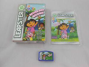 Leapster Dora Retter der Wildnis Spiel Software Leap Frog Lernspiel Naturkunde Lernspielzeug Kindercomputer