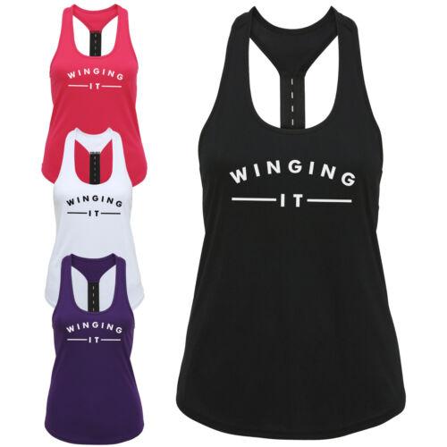 Maintenant il femmes bride arrière débardeur-drôle celeb casual gym entraînement exercice top