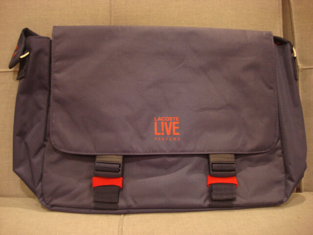e5fc82449e LACOSTE LIVE PARFUMS Y2 BIKE MESSENGER SHOULDER BAG NAVY - BRAND NEW
