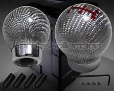 SILVER CARBON FIBER ROUND BALL 5 SPEED SHIFT KNOB MAZDA 3 6 RX7 MIATA PROTEGE