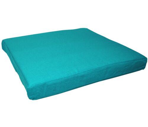 Bleu Sarcelle aa150t coton épais canevas boîte 3D SOFA Siège Coussin Couverture * taille personnalisée