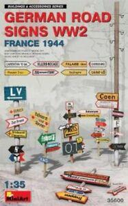 Miniart-1-35-Scale-Model-Kit-German-panneaux-routiers-WWII-FRANCE-1944-MIN35600