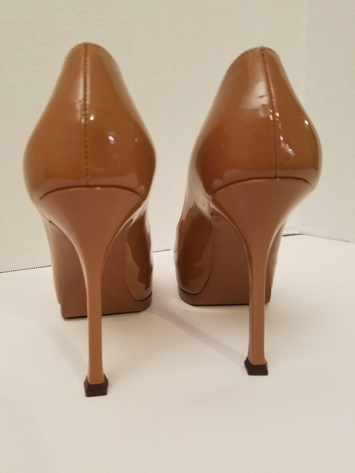 YSL Tribtoo Nude Patent Leather Platform Pumps 6/… - image 5