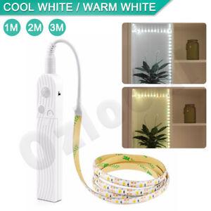 LED-PIR-Motion-Sensor-Activated-Light-Strip-Wardrobe-Cabinet-Battery-Operated-AU
