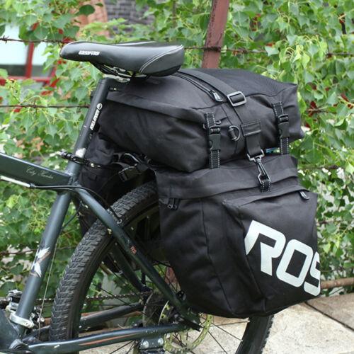 Large Waterproof Bicycle 3-piece Pannier Set Double Side Rear Seat Rack Bag New